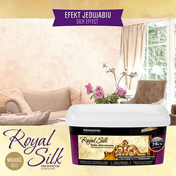Структурна боя Royal silk zlota - златна основа