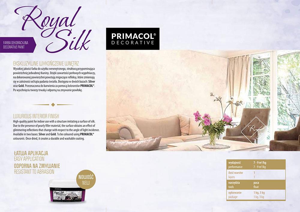 Структурна боя Royal silk zlota сребърна основа 3